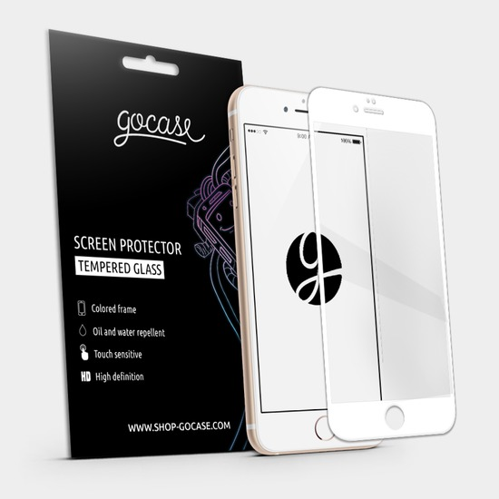 Gocase White Screen Protector - Tempered Glass