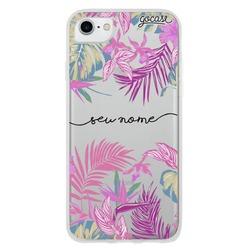 Capinha para celular Floral Neon Manuscrita