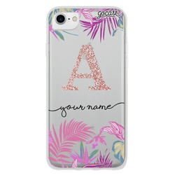 Floral Neon Glitter - Clean Phone Case