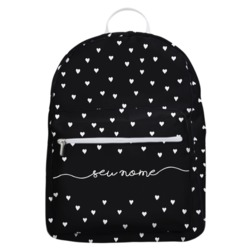 Mochila Gocase Bag - White Hearts Manuscrita