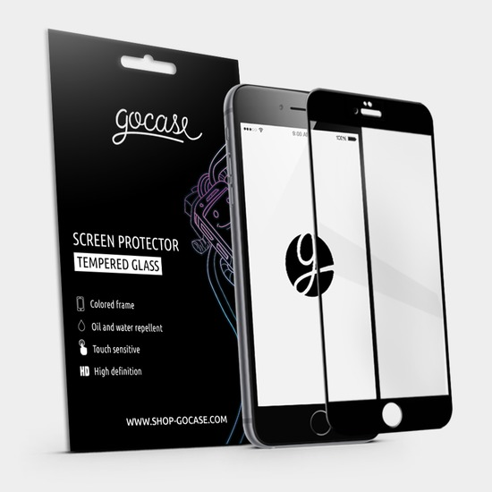 Gocase Black Screen Protector - Tempered Glass