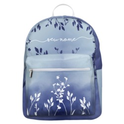 Mochila Gocase Bag - Arranjo Azul Manuscrita