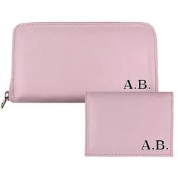 Carteira Saffiano - Pink Basic Iniciais