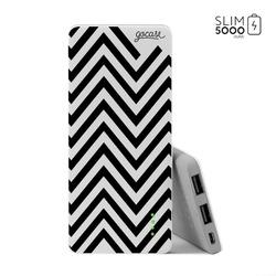 Power Bank Slim Portable Charger (5000mAh)  - Black Stripes