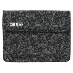 Pasta para Notebook - Camuflagem Preta Personalizada