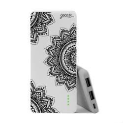Power Bank Slim Portable Charger (5000mAh)  - Black Mandala