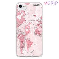 Kit Mapa Mundi Rosa (Capinha+ GoGrip)