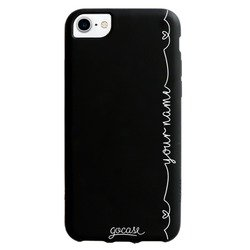 Black Case Hearts with Name Vertical Phone Case