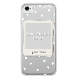 Picture - White Hearts Patern Phone Case