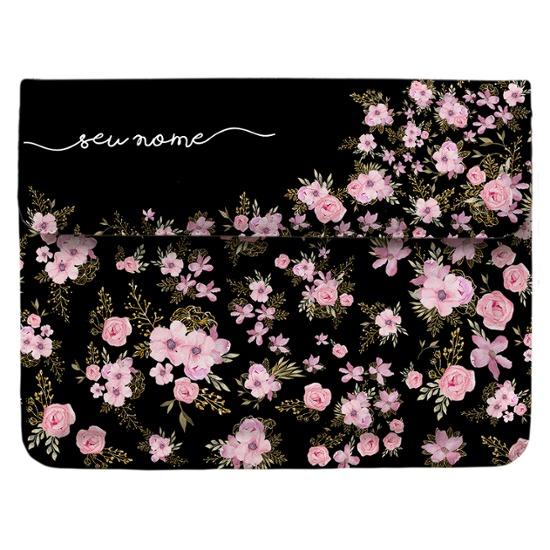 Capa para Notebook - Flores Royale Manuscrita