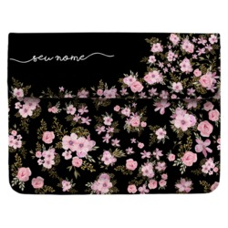 Case Clutch Notebook - Flores Royale Manuscrita
