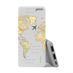 Power Bank Slim Portable Charger (5000mAh) - World Map Blank