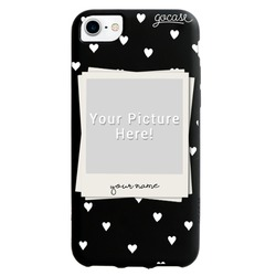 Picture - Black case - Picture White Heart Pattern Phone Case