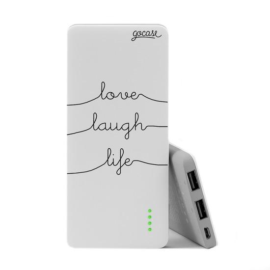Carregador Portátil Power Bank Slim (5000mAh)  - Love Laugh Live
