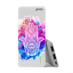 Power Bank Slim Portable Charger (5000mAh)  - Winked Hamsa