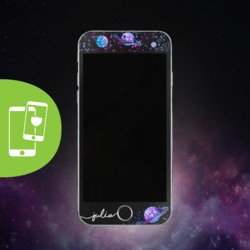 Stardust Handwritten Black Screen Protector - Tempered Glass