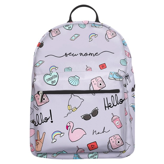 Mochila Gocase Bag - Compartilhe Amor Manuscrita by Nah Cardoso