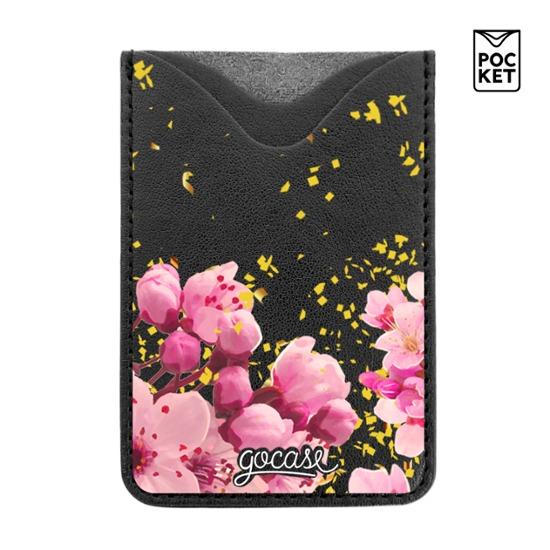 Black Pocket Gold Flower