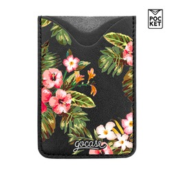 Black Pocket Floral