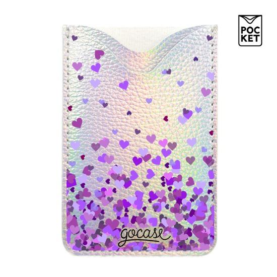 Shiny Pocket Purple Hearts