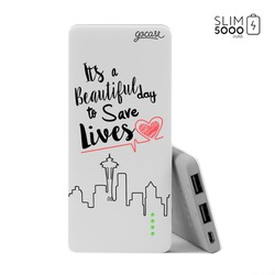 Power Bank Slim Portable Charger (5000mAh)  - Save Lives