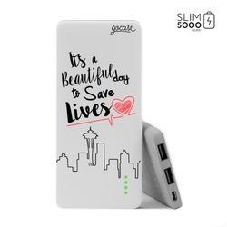 Power Bank Slim Portable Charger (5000mAh)  - Save Lives