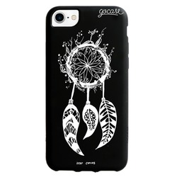 Black Case - White Dream Catcher Phone Case