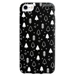 Black Case - White Christmas Trees  Phone Case