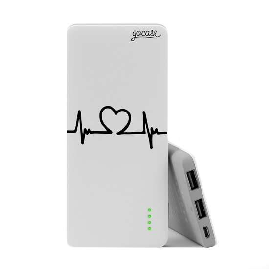 Power Bank Slim Portable Charger (5000mAh)  - Heartbeat