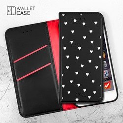 Royal Wallet - White Hearts Phone Case
