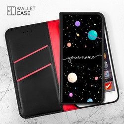 Royal Wallet - Planets Handwritten Phone Case