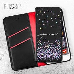 Royal Wallet - Moon and Pink Stars Handwritten Phone Case