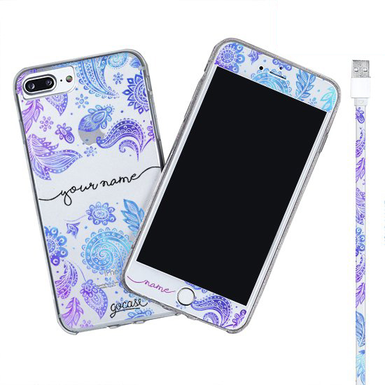 Kit Purple (Iphone Case + Lightning Cable to USB for iPhone + Screen Protector)