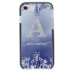 Capinha para celular Anti-Impacto PRO - Arranjo Azul Glitter
