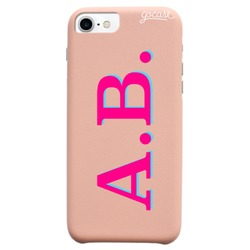 Royal Rose Initials - Pink and Blue Phone Case