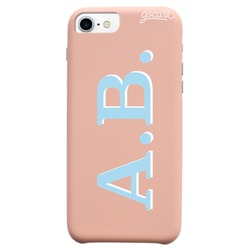 Royal Rose Initials - Light Blue and White Phone Case