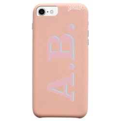 Royal Rose Initials - Pink and Light Blue Phone Case