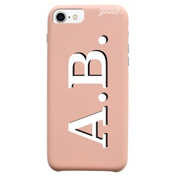 Royal Rose Initials - White and Black Phone Case