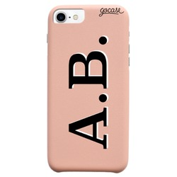 Royal Rose Initials - Black and White Phone Case