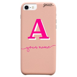 Royal Rose Initial Pink And White Phone Case