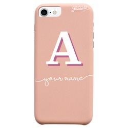 Royal Rose Initial White Phone Case
