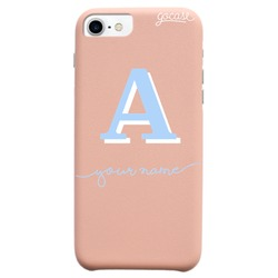 Royal Rose Initial Light Blue And White Phone Case