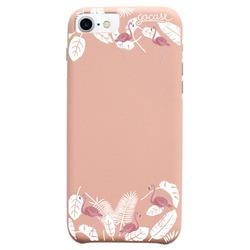 Capinha para celular Fascino Flamingos Florais Glitter