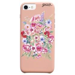Capinha para celular Fascino - Iniciais em Flor Glitter