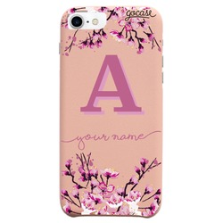 Royal Rose - Cherry Blossoms Initial Pink Phone Case