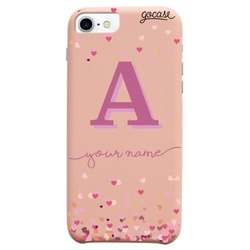 Royal Rose - Hearts Initial Pink Phone Case