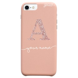 Royal Rose - Initial Glitter Rose Phone Case