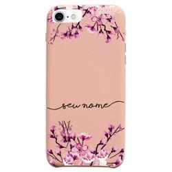 Capinha para celular Fascino - Flor de Cerejeira Glitter