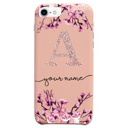Royal Rose - Cherry Blossoms Initial Glitter Phone Case