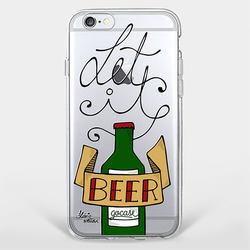 Capinha para celular Let It Beer